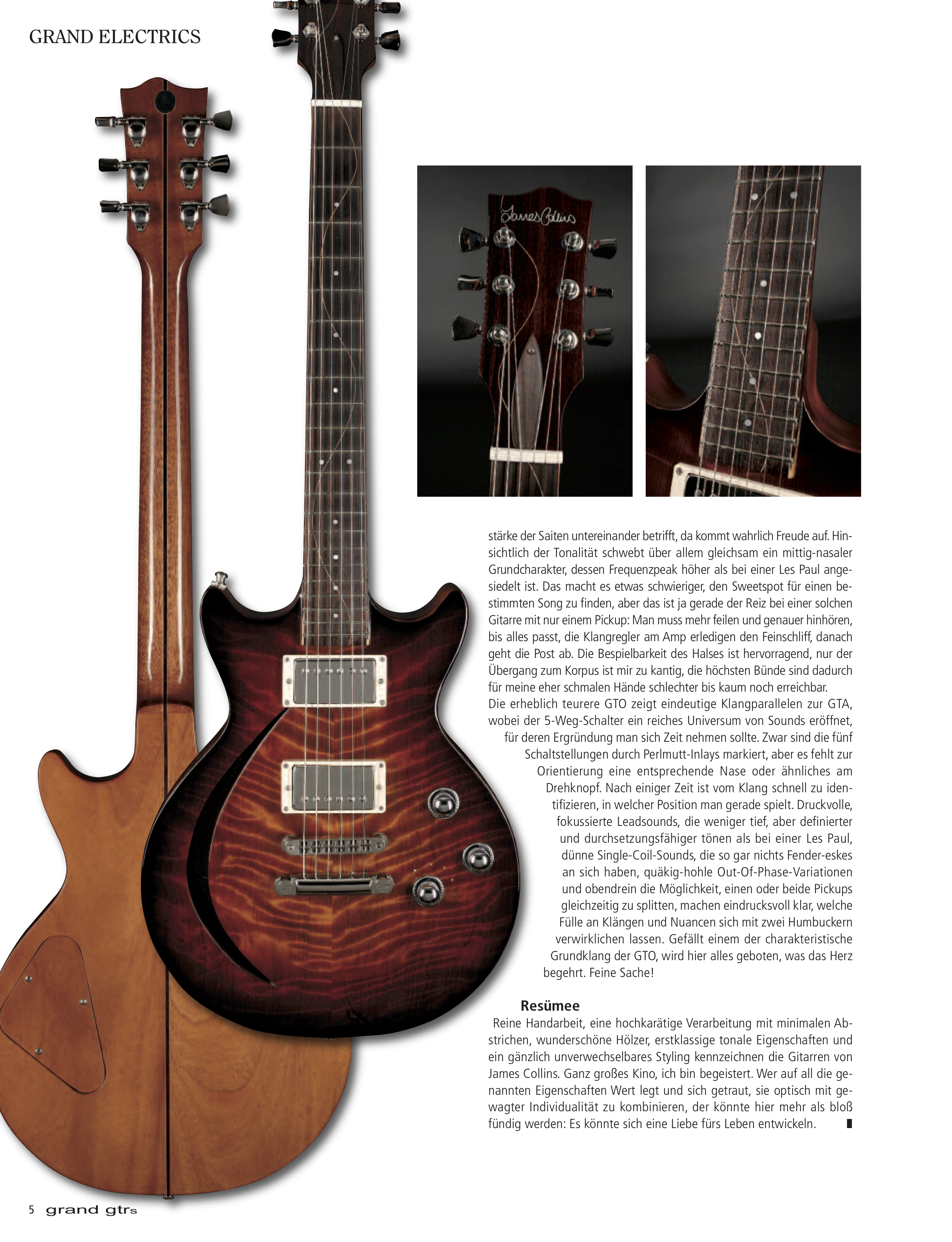Reviews – James Collins Guitars