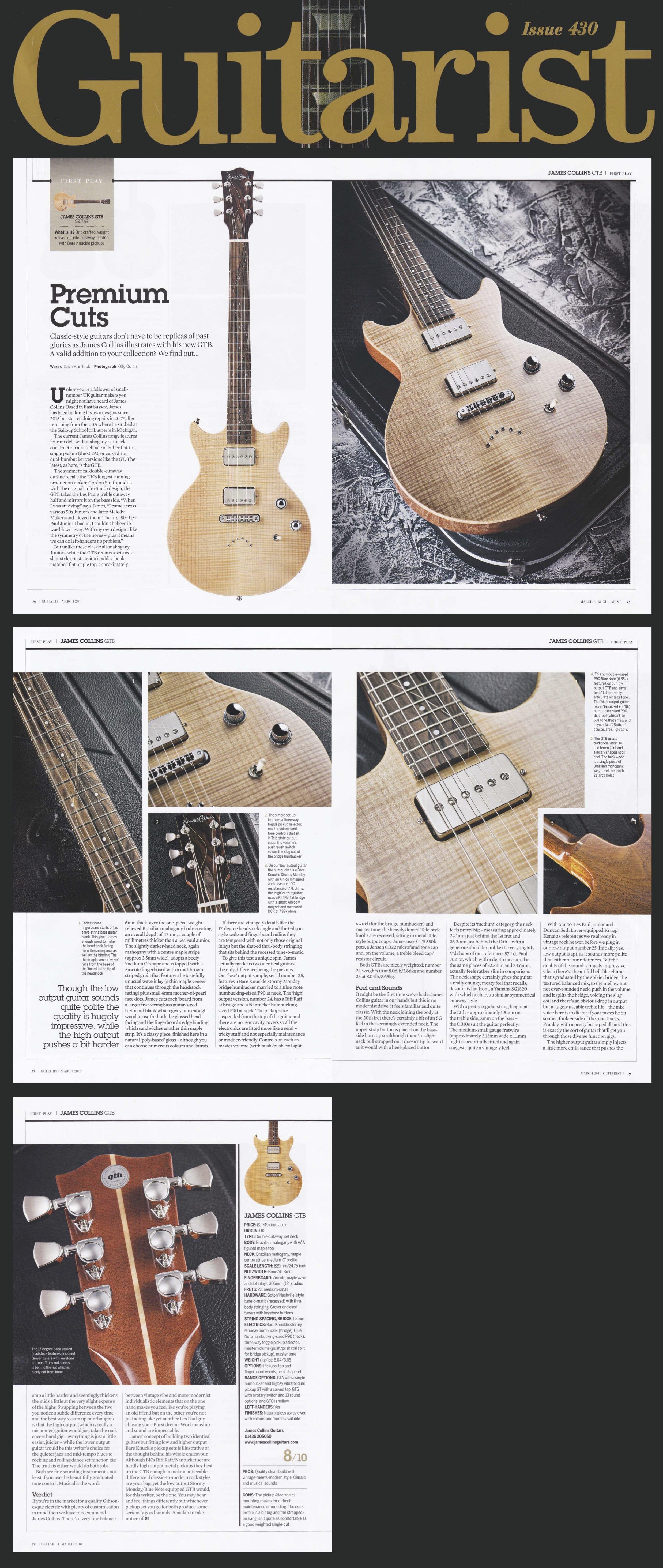 Reviews james collins guitars guitarist magazine march 2018 sciox Images